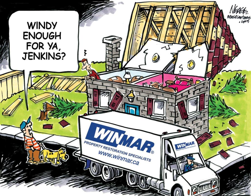 roof repair image cartoon